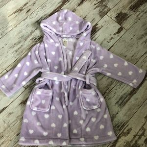 Pottery Barn lavender heart print robe